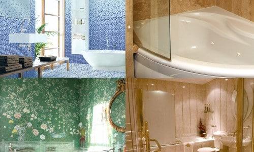 Виды материалов для ванны